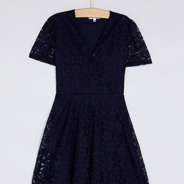 Robe fille bleu marine
