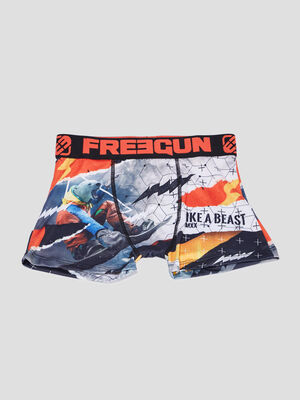 Boxer Freegun multicolore garcon