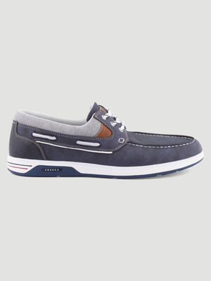 Chaussures bateau multicolores bleu homme