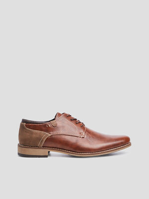 Derbies a lacets marron homme