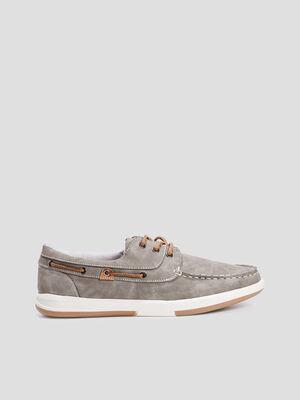 Chaussures bateau Trappeur gris homme