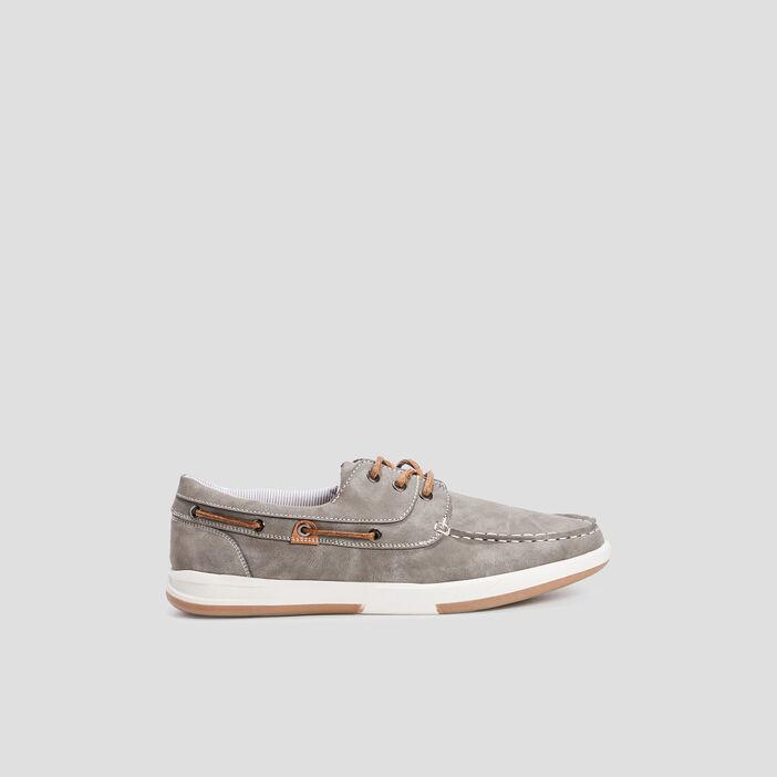 Chaussures bateau Trappeur homme gris