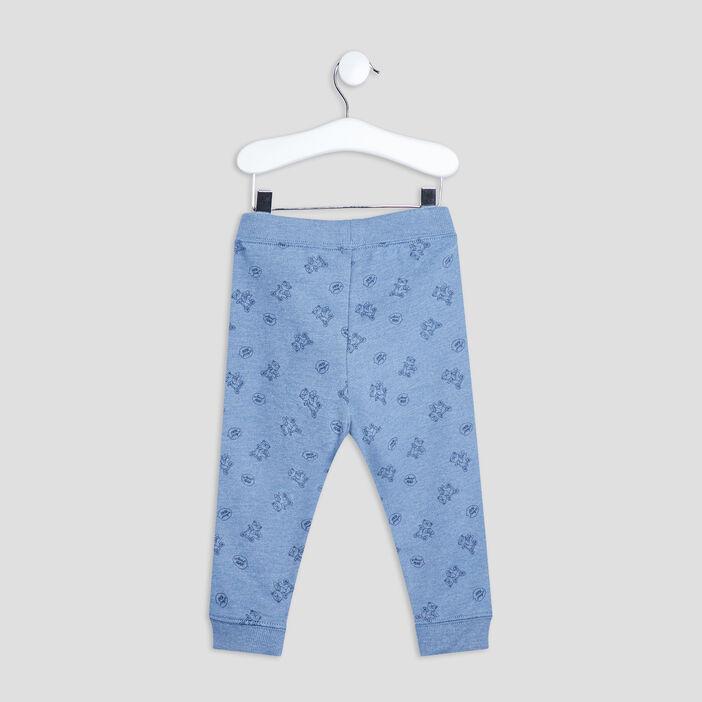 Pantalon jogging droit bébé garçon bleu