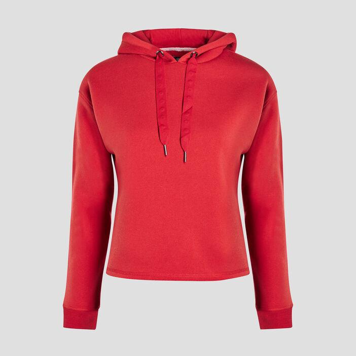 Sweat à capuche Liberto femme rouge
