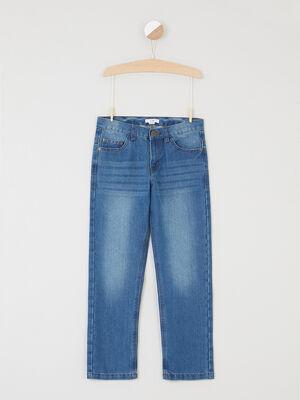 Jeans regular effet delave denim double stone garcon