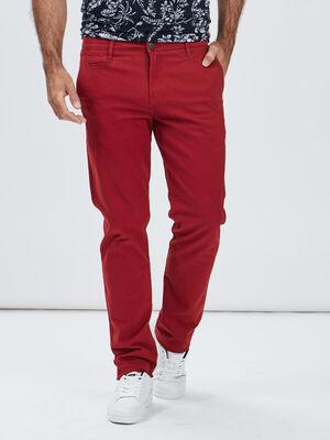 Pantalon regular rouge homme