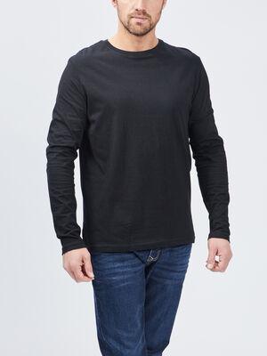 T shirt manches longues noir homme