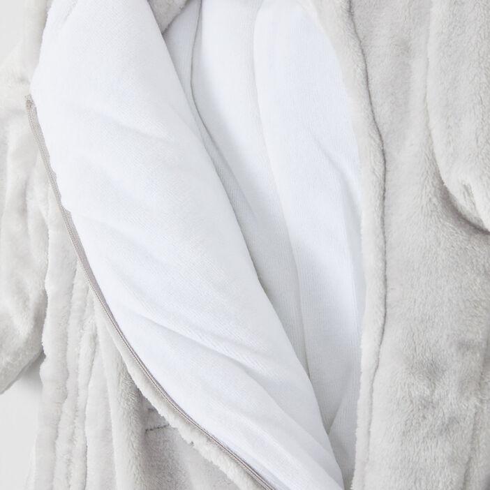 Combinaison à capuche zippée garçon gris clair