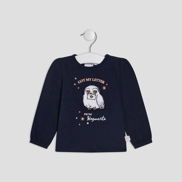 T-shirt Harry Potter bébé fille bleu marine