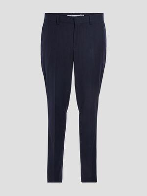 Pantalon city a pinces bleu marine homme