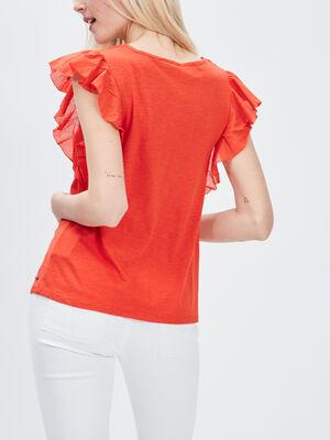 T shirt manches courtes Creeks orange femme