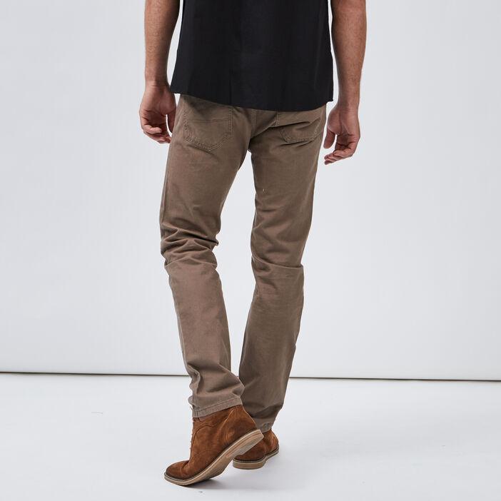 Pantalon droit homme taupe