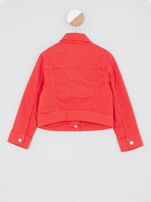 Veste Blouson rouge fille