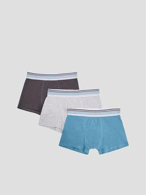Lot 3 boxers bleu canard homme