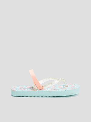 Sandales de plage bleu turquoise fille