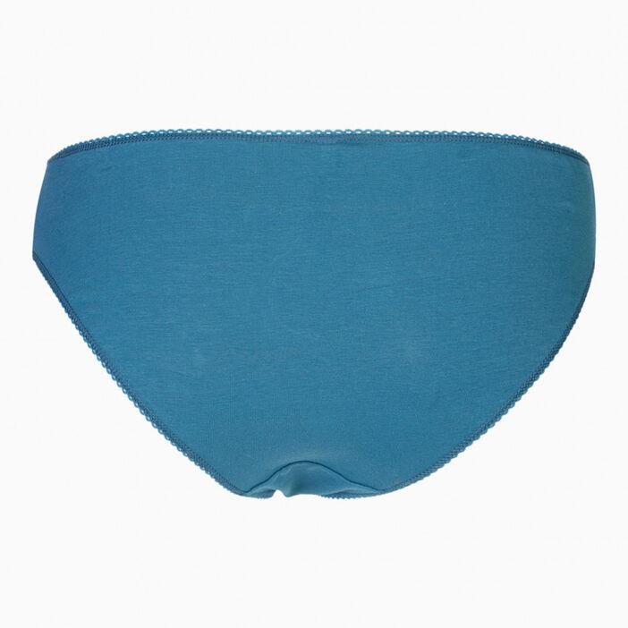 Culotte NOUGAT avec dentelle femme bleu