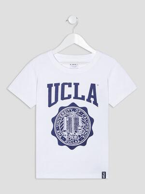 T shirt manches courtes UCLA blanc fille