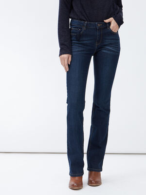 Jeans bootcut taille basse denim brut femme