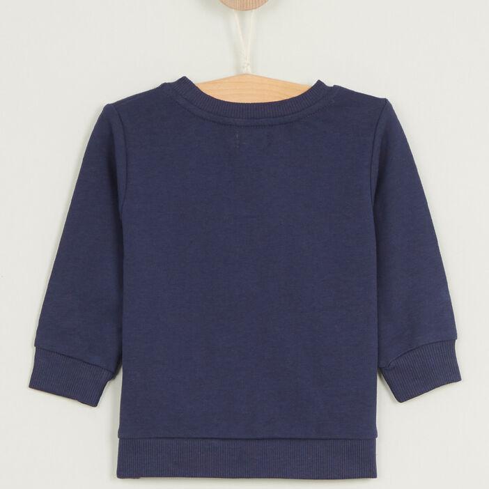 Sweatshirt avec imprimé coton mélangé garçon bleu marine