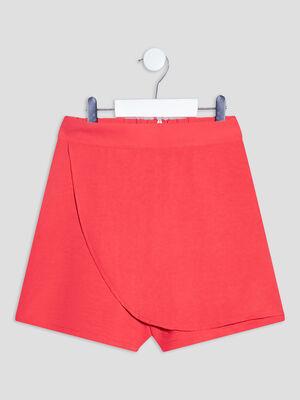 Short ajuste avec pan orange corail fille