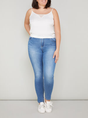 Jeans slim taille ajustable denim double stone femmegt
