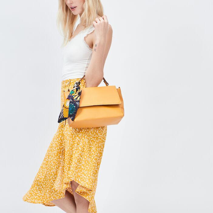 Sac besace à foulard femme jaune