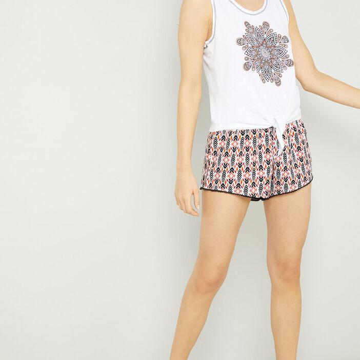 Ensemble pyjama 2 pièces femme blanc