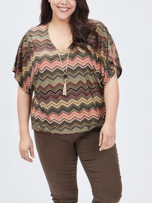 T shirt manches courtes multicolore femmegt