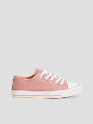 Baskets tennis rose fille