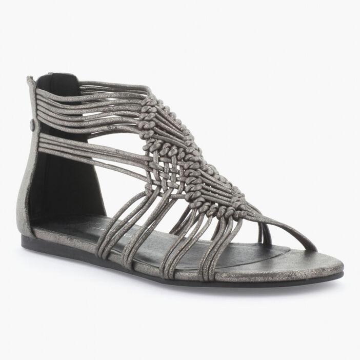 Sandale femme couleur argent