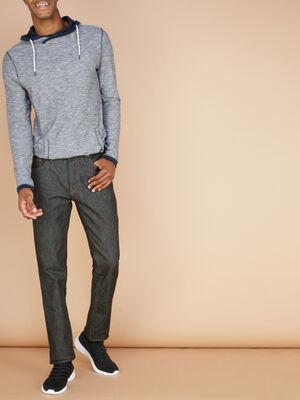 Jean regular en coton extensible noir homme