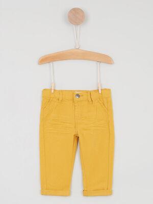 Pantalon uni forme chino jaune garcon