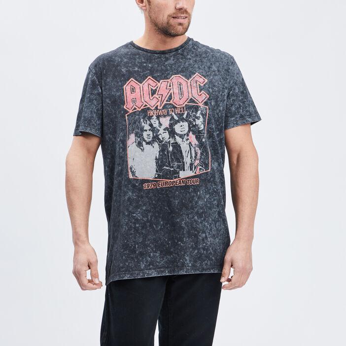 T-shirt manches courtes AC/DC homme noir