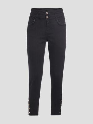 Pantalon slim effet push up noir femme
