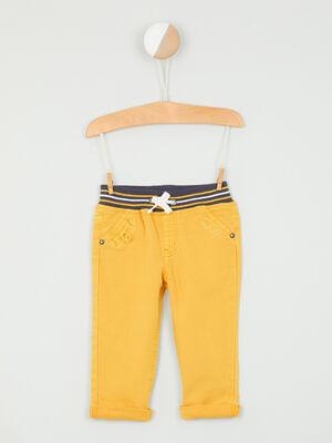Pantalon en toile esprit marin jaune garcon