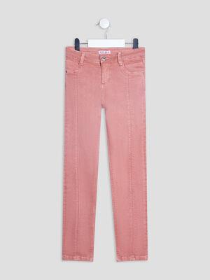 Pantalon slim taille ajustable Creeks vieux rose fille