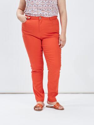 Pantalon slim grande taille orange fonce femmegt