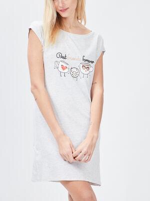Chemise de nuit gris clair femme