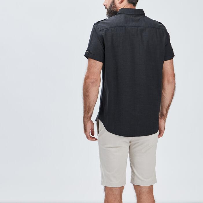 Chemise manches courtes homme gris foncé