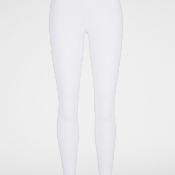 Legging long uni femme blanc