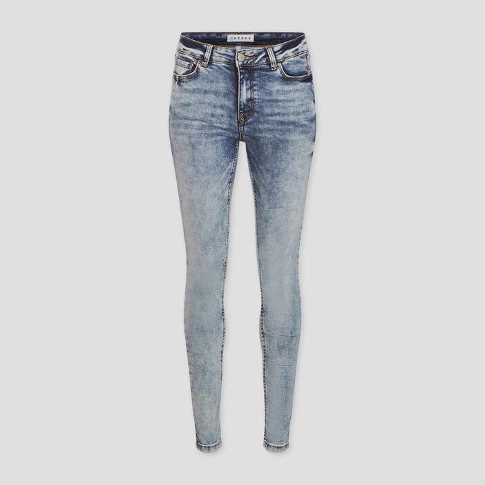 Jeans skinny délavé Creeks femme denim double stone