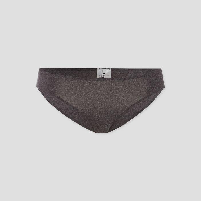 Culotte microfibre femme gris