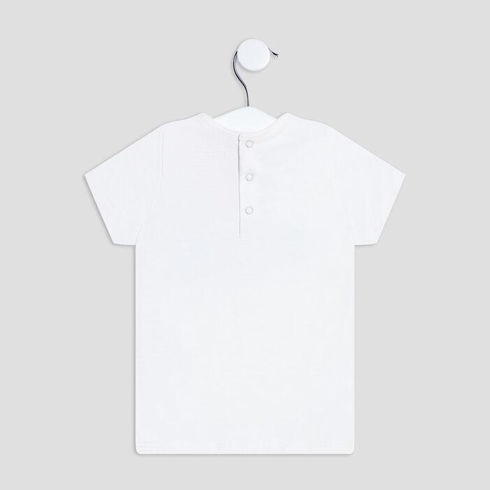 T-shirt manches courtes bébé fille blanc
