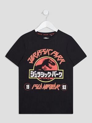 T shirt Jurassic Park noir garcon