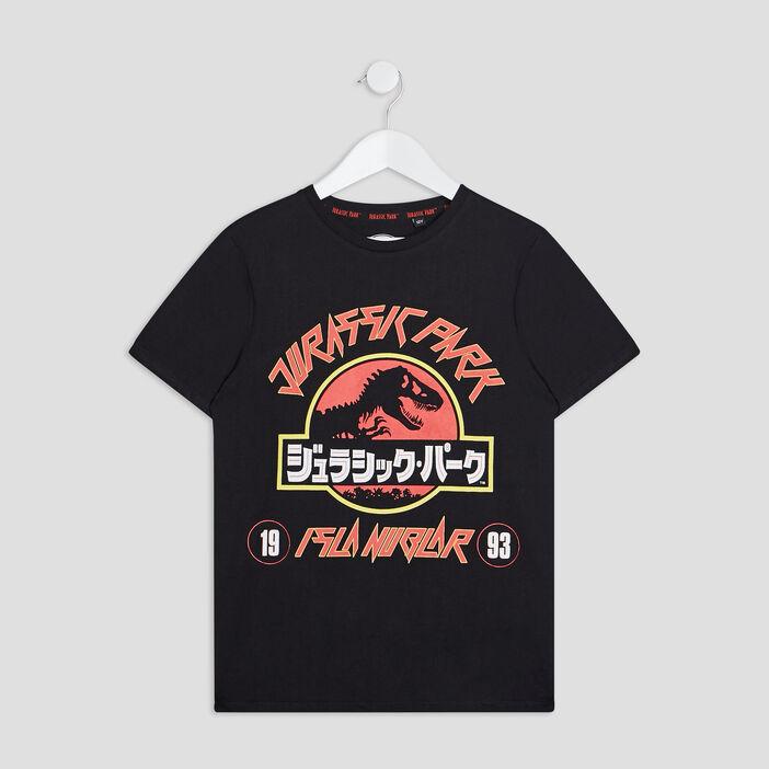 T-shirt Jurassic Park garçon noir