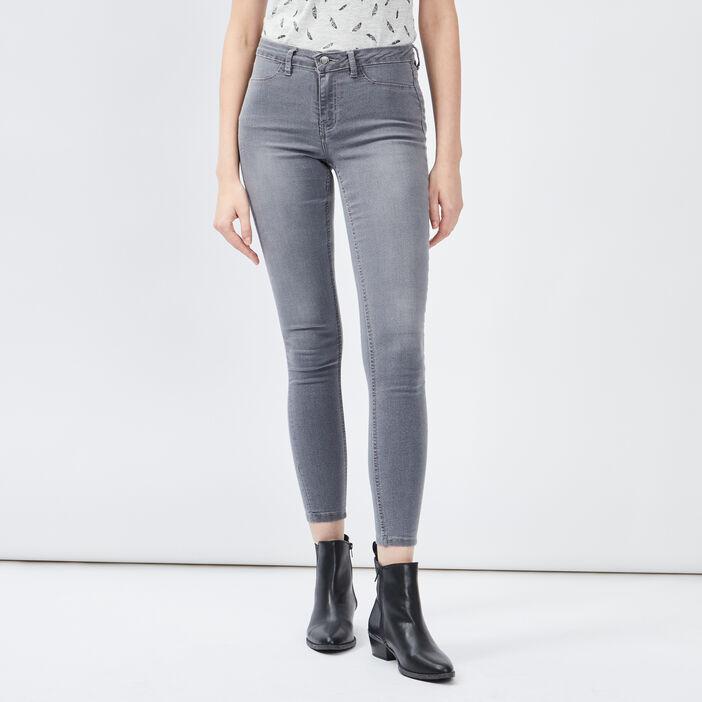 Jegging taille basse femme gris