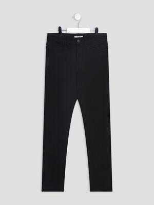 Pantalon slim noir garcon