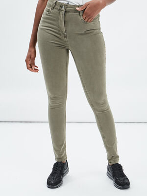 Pantalon slim delave vert kaki femme