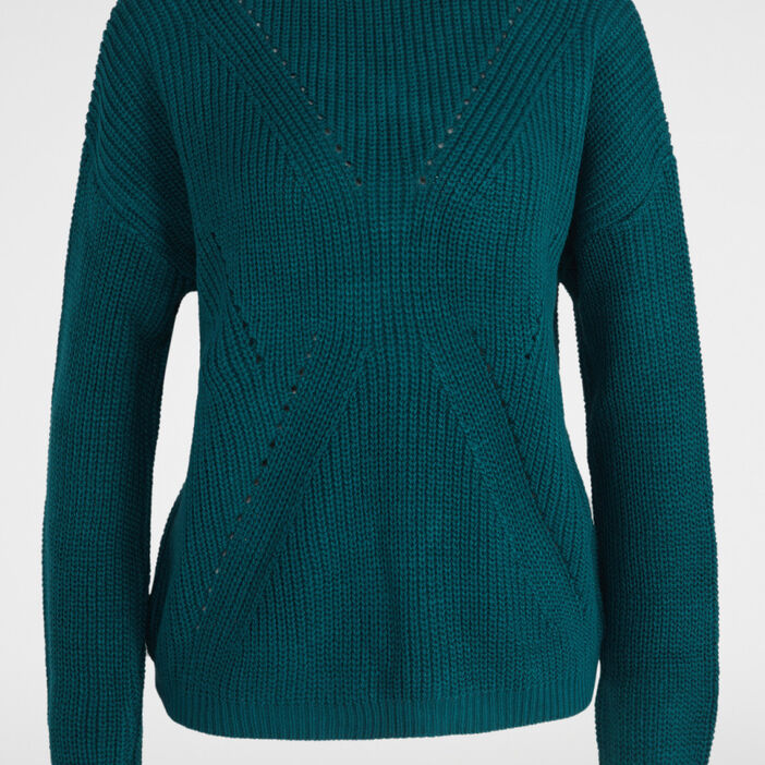 Pull ample avec laçage femme vert