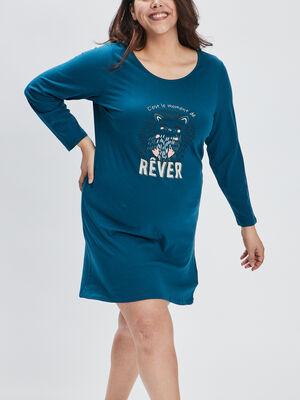 Chemise de nuit bleu femmegt